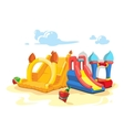 inflatable castles and vector image vector image