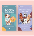 instagram template with dogs design for social vector image vector image