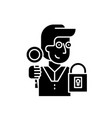 key to success black icon sign on isolated vector image