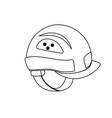 line helmet equipment to industry service vector image