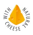logo triangular slice of cheese vector image