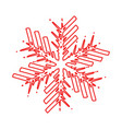 outline snowflake shape vector image vector image