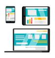 Phone laptop tablet web site flat