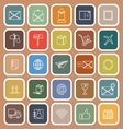 Post line flat icon on brown background vector image vector image
