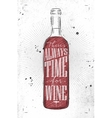 Poster time for wine vector image vector image