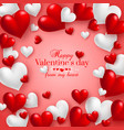 realistic floating 3d valentine hearts red vector image vector image