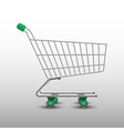 realistic shopping cart isolated on white vector image