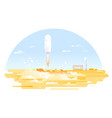 rocket launch for space exploration vector image vector image