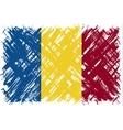 Romanian grunge flag vector image