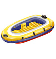 Rubber boat vector image vector image