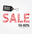 Sale Discount Icon Styled Black Friday Advertising vector image vector image