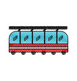 scribble cute train cartoon vector image