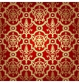 Seamless pattern backgroundDamask wallpaper vector image