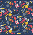 seamless pattern with fish and sea animals vector image vector image