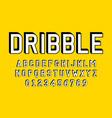 set alphabets font modern design vector image vector image