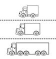 set cargo trucks vector image