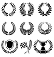Set of Laurel Wreaths vector image vector image