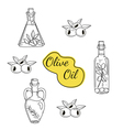 set of olive oil icons vector image vector image