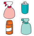 set of spray can and bottle vector image