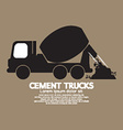 Single Black Cement Mixer Trucks vector image