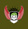 skull with wings to take Military emblem Label on vector image vector image