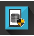 smartphone cartoon file cabinet security icon vector image vector image