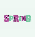 spring concept stamped word art vector image vector image