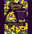 spring season holiday greeting banner with flower vector image vector image