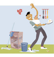 Stay-at-home Dad multitasking vector image vector image