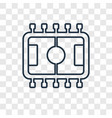 table football concept linear icon isolated on vector image vector image