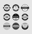 Vintage logo badges