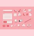web elements for website design and development vector image
