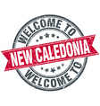 welcome to New Caledonia red round vintage stamp vector image vector image