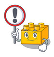 with sign pltastic building blocks cartoon on toy vector image