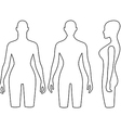Woman mannequin outlined torso vector image vector image