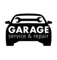 Auto center garage service and repair logo vector image