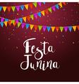 Festa Junina celebration poster Brazilian festa vector image