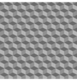 Grey geometric seamless cubes pattern background vector image