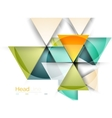 3d geometric abstract background vector image vector image
