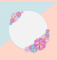 abstract colored natural flower background vector image vector image