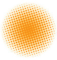 Abstract halftone design element orange pop art