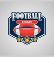 american football logo template design vector image vector image