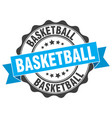 basketball stamp sign seal vector image vector image