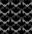 Bats seamless pattern Background of flying animals vector image