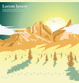 beautiful mountain landscape with coniferous trees vector image vector image