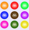 bicycle icon sign Big set of colorful diverse vector image