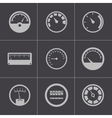 black meter icons set vector image
