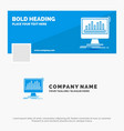 blue business logo template for analytics vector image
