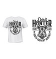boar hunt club t-shirt print mockup animal emblem vector image vector image