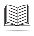 Book icon on white background book sign flat vector image